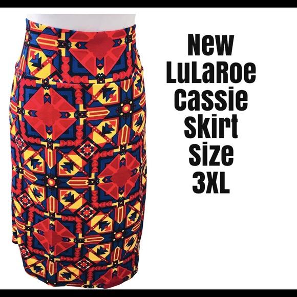 New Lularoe Cassie Skirt Size 3XL